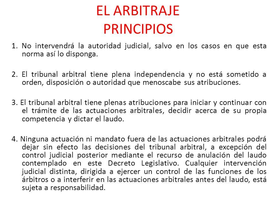 EL ARBITRAJE PRINCIPIOS