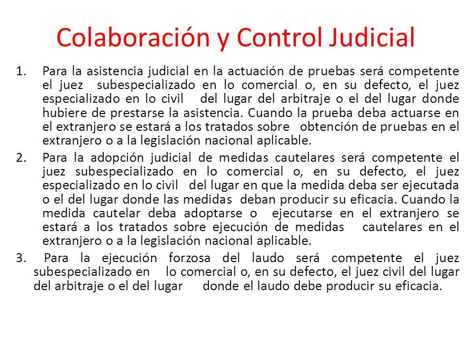 Colaboración y Control Judicial