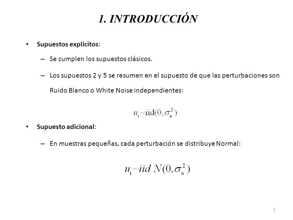 1. INTRODUCCIÓN Supuestos explícitos: