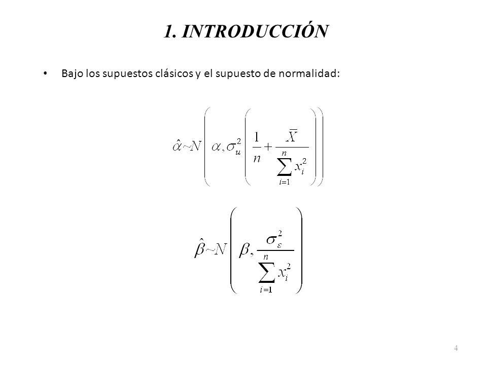 1. INTRODUCCIÓN Bajo los supuestos clásicos y el supuesto de normalidad: