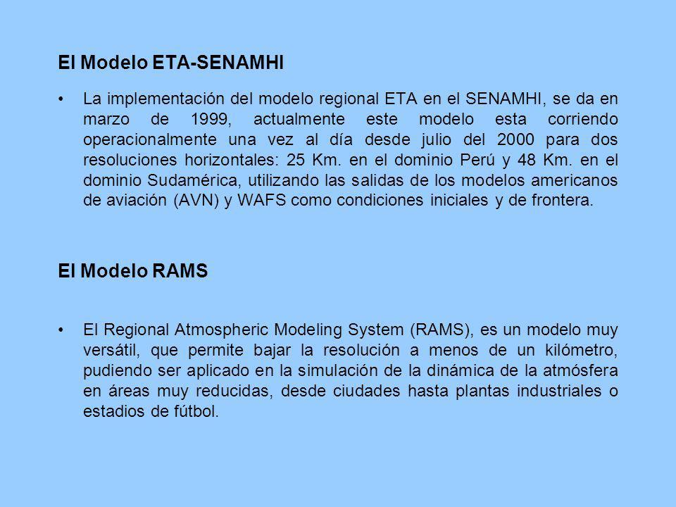 El Modelo ETA-SENAMHI El Modelo RAMS