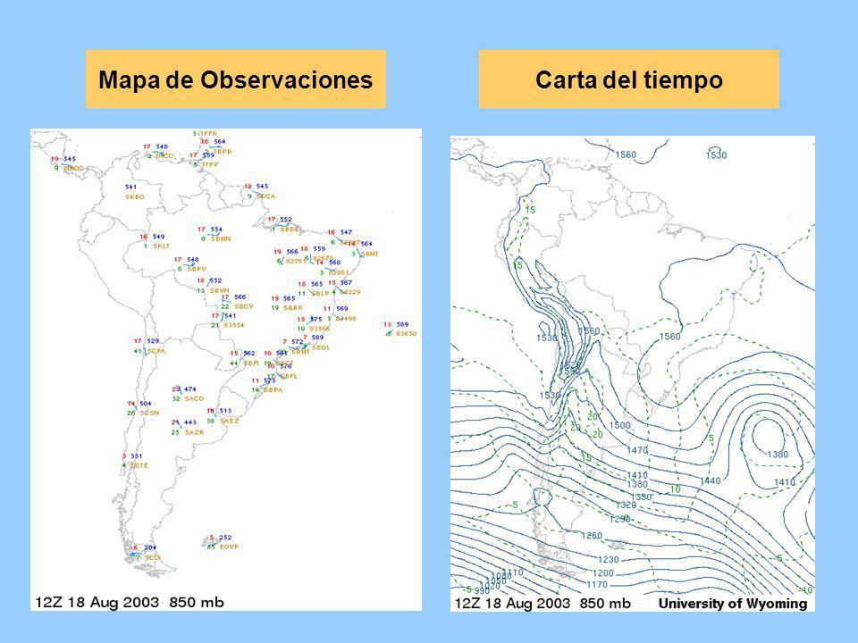 Mapa de Observaciones Carta del tiempo
