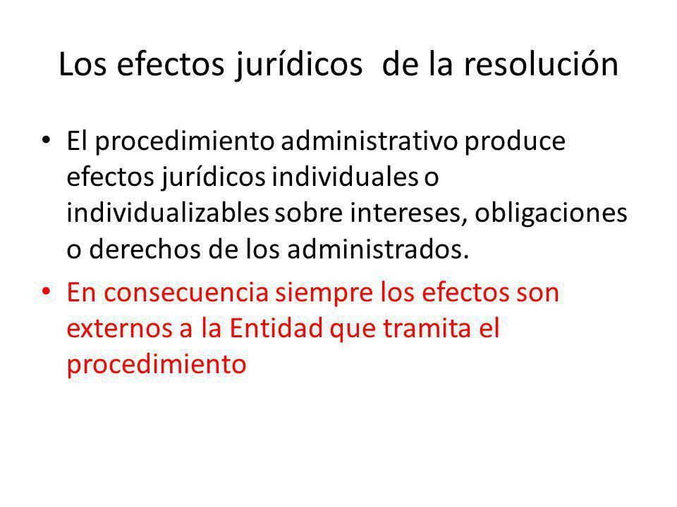 Los efectos jurídicos de la resolución