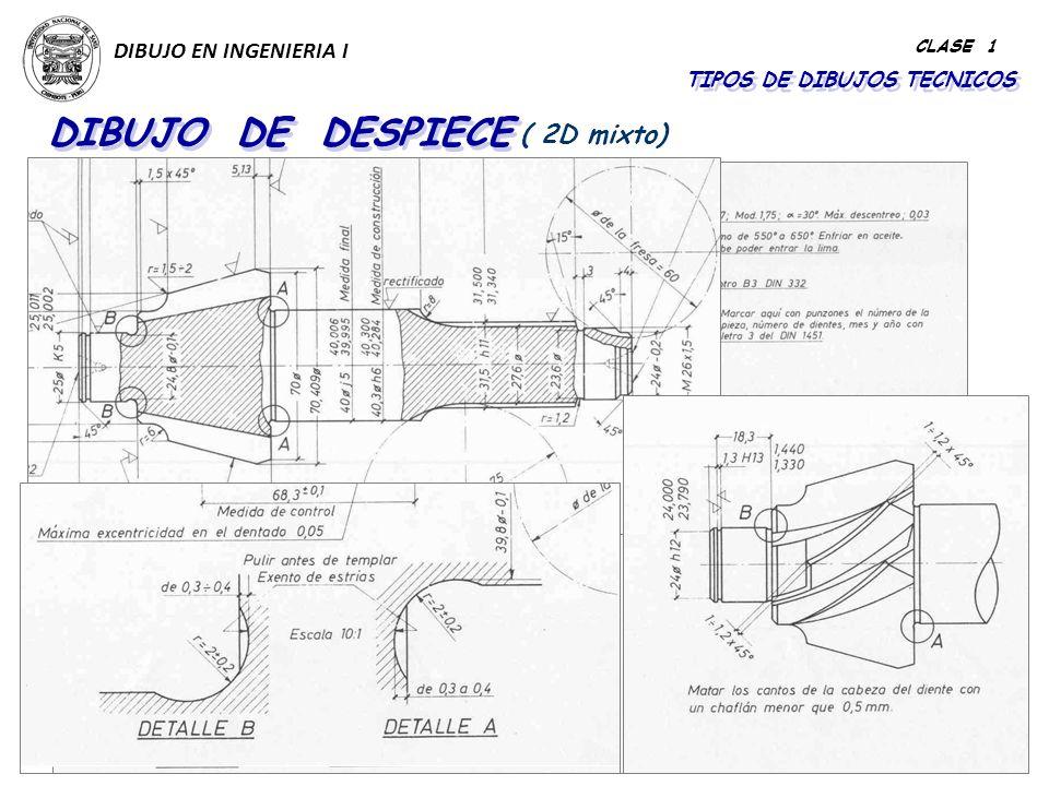 TIPOS DE DIBUJOS TECNICOS