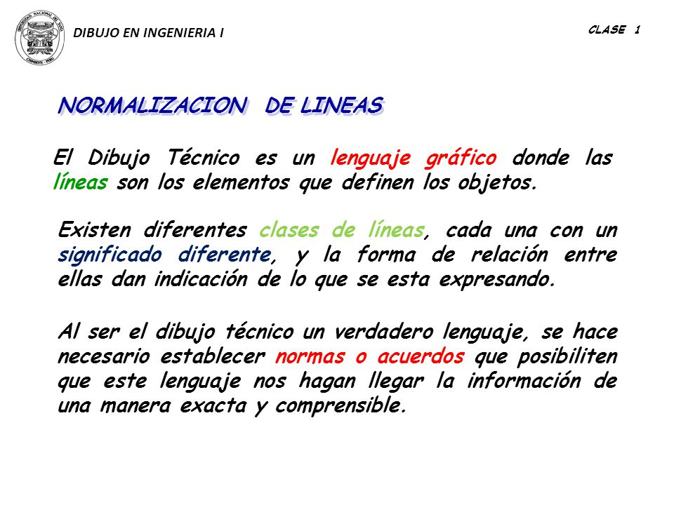 NORMALIZACION DE LINEAS