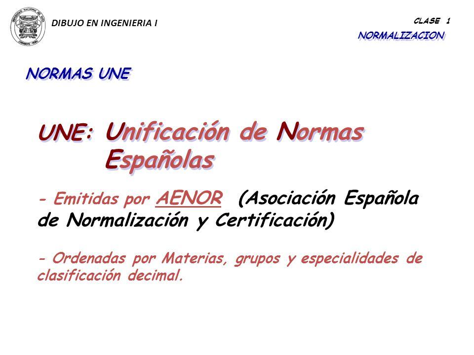 Unificación de Normas Españolas