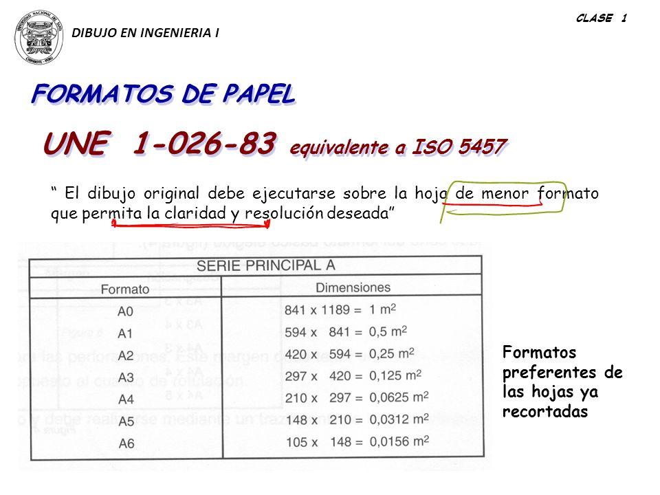 UNE 1-026-83 equivalente a ISO 5457
