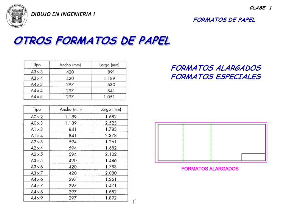 OTROS FORMATOS DE PAPEL