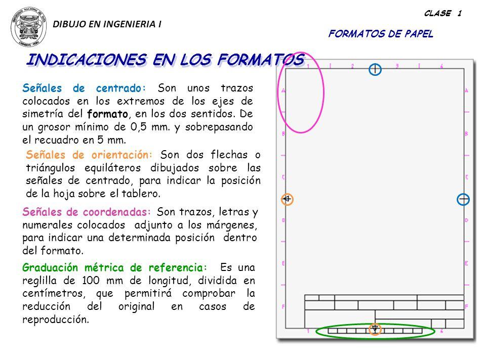 INDICACIONES EN LOS FORMATOS