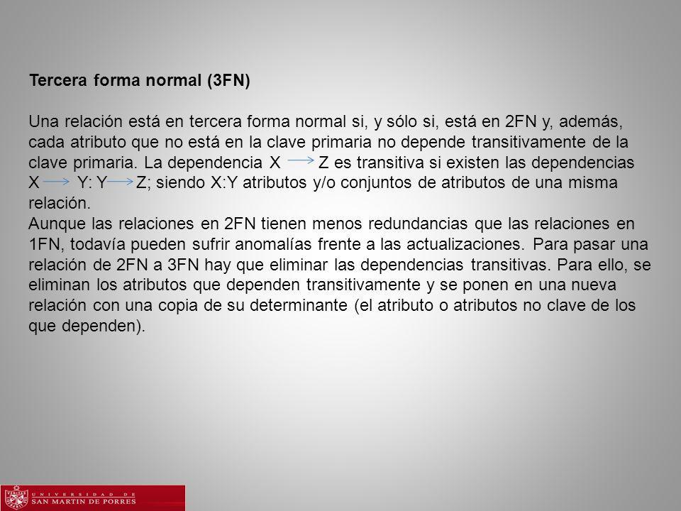 Tercera forma normal (3FN)