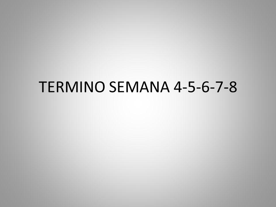 TERMINO SEMANA 4-5-6-7-8