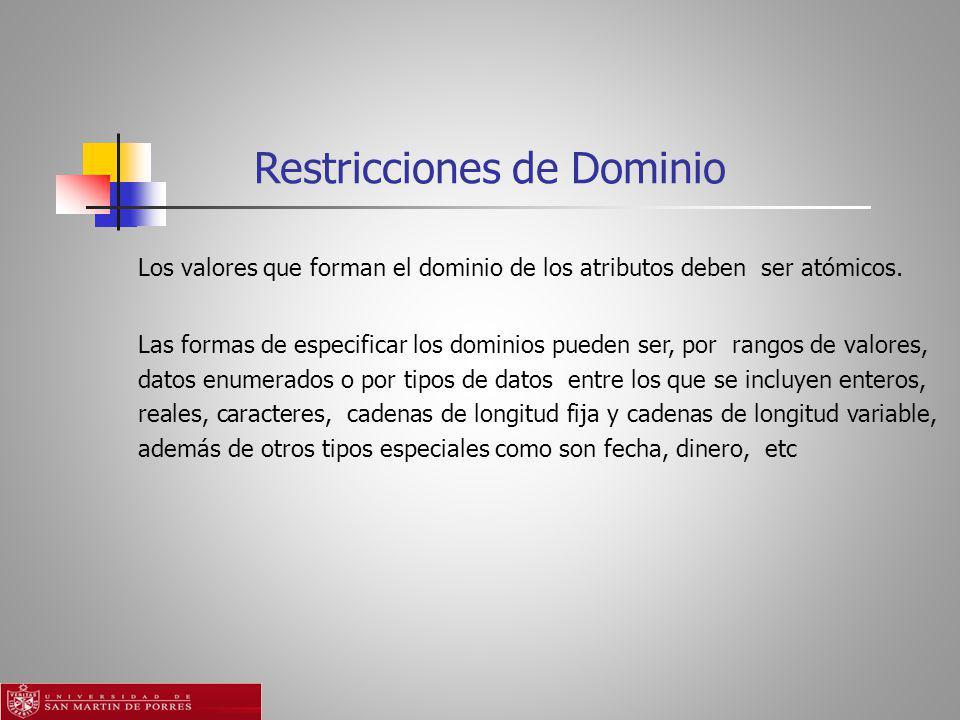 Restricciones de Dominio