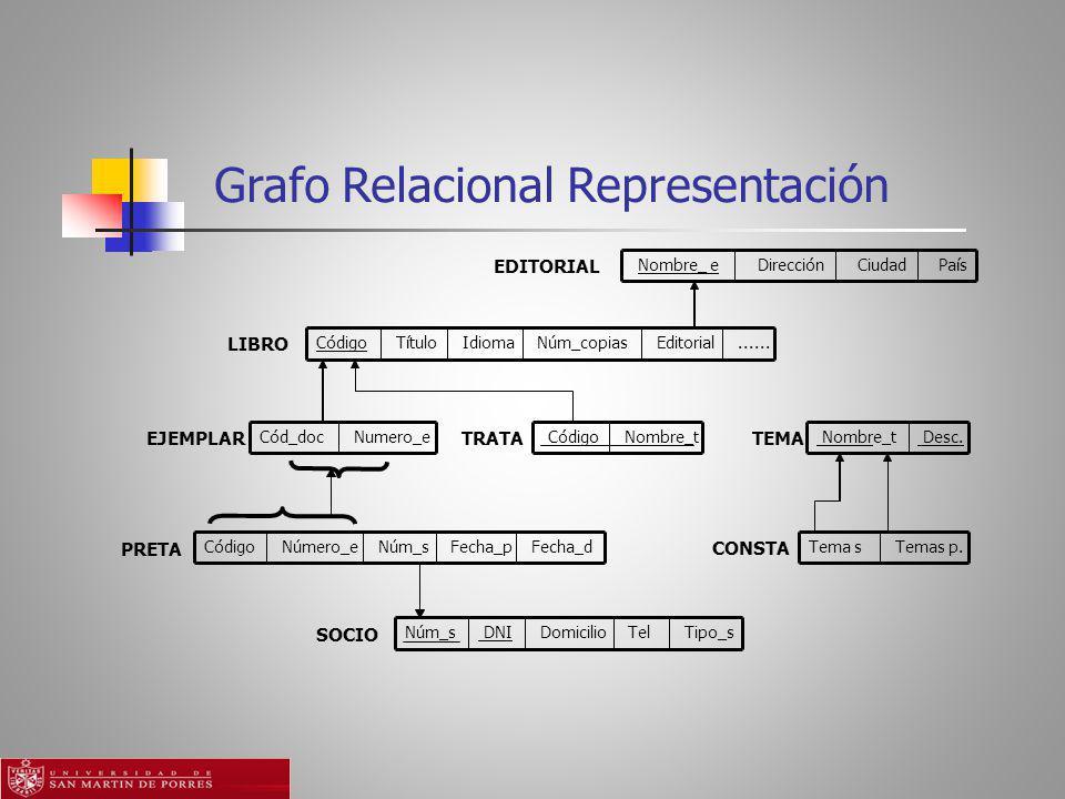 Grafo Relacional Representación