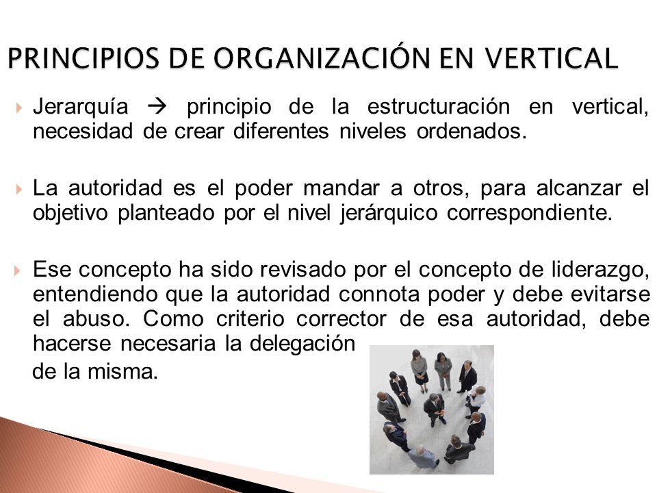 PRINCIPIOS DE ORGANIZACIÓN EN VERTICAL