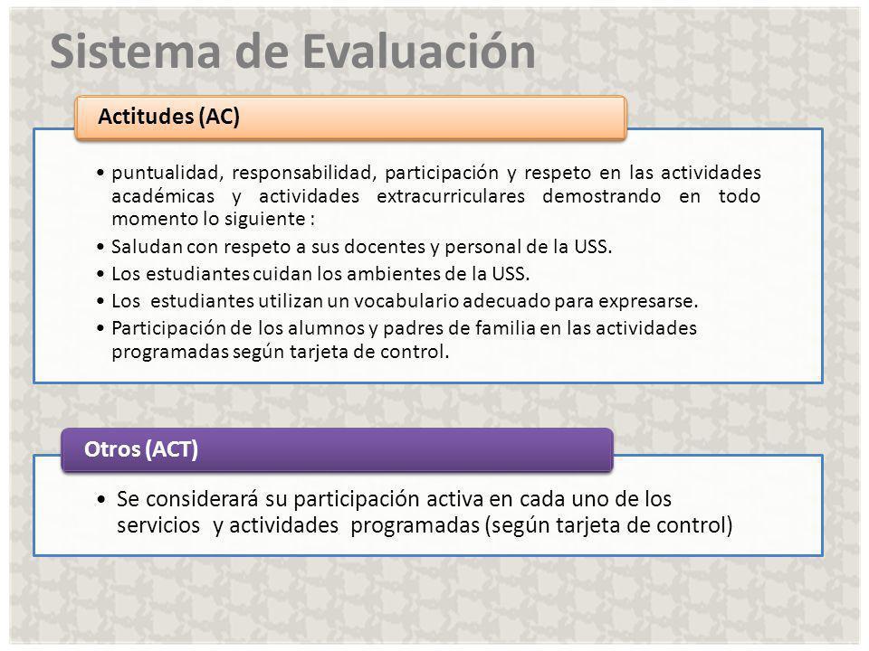 Sistema de Evaluación Actitudes (AC) Otros (ACT)