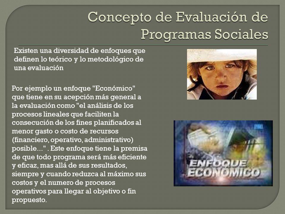 Concepto de Evaluación de Programas Sociales