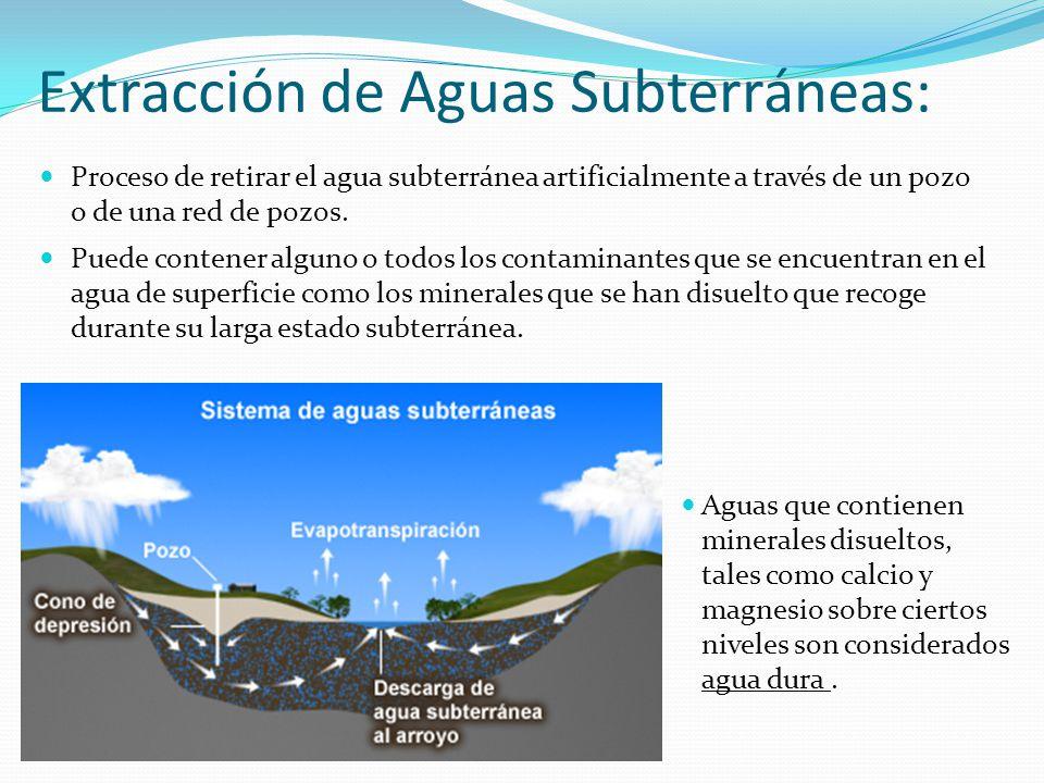 Extracción de Aguas Subterráneas: