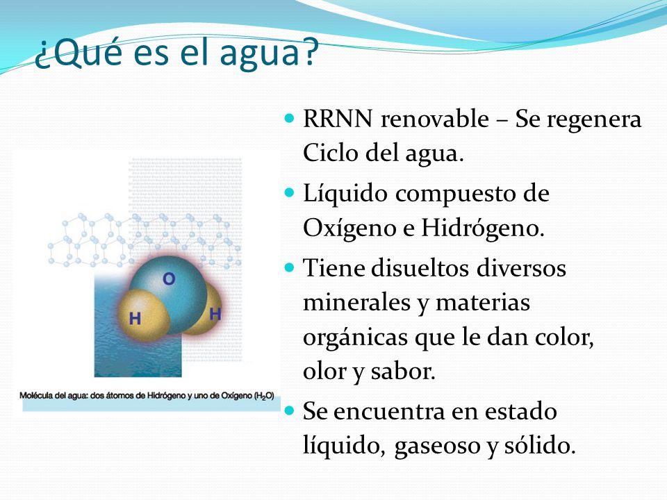 ¿Qué es el agua RRNN renovable – Se regenera Ciclo del agua.