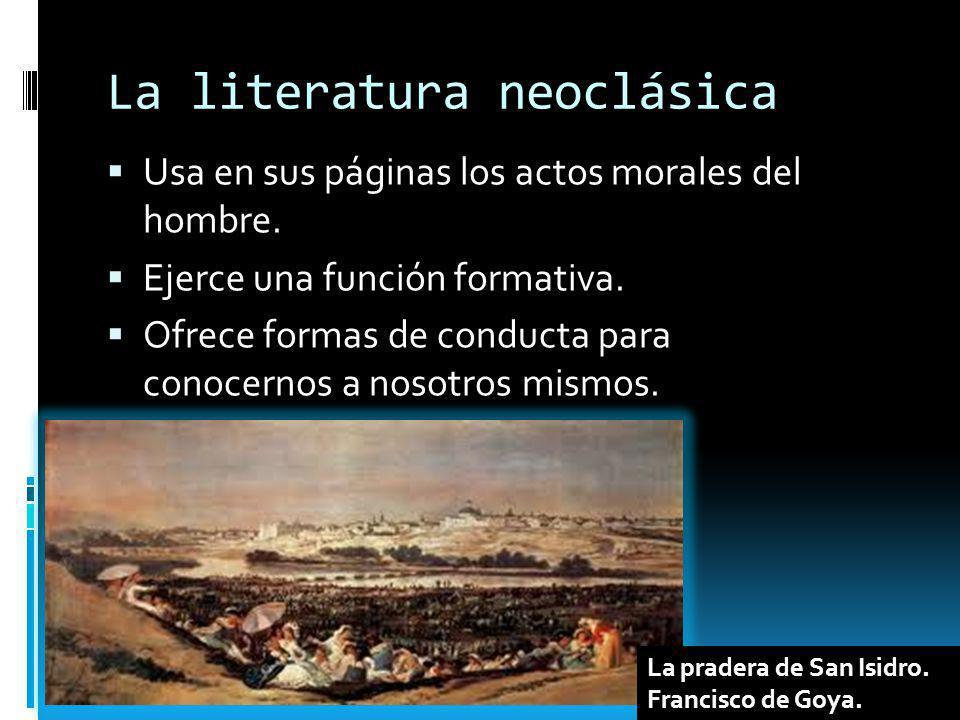 La literatura neoclásica