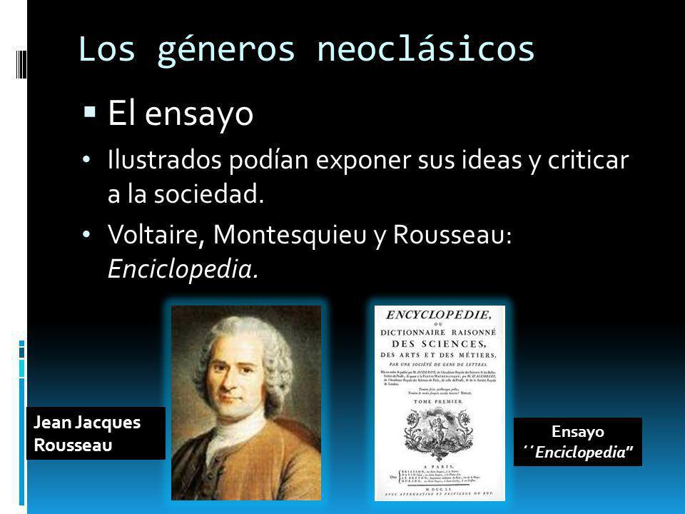 Los géneros neoclásicos