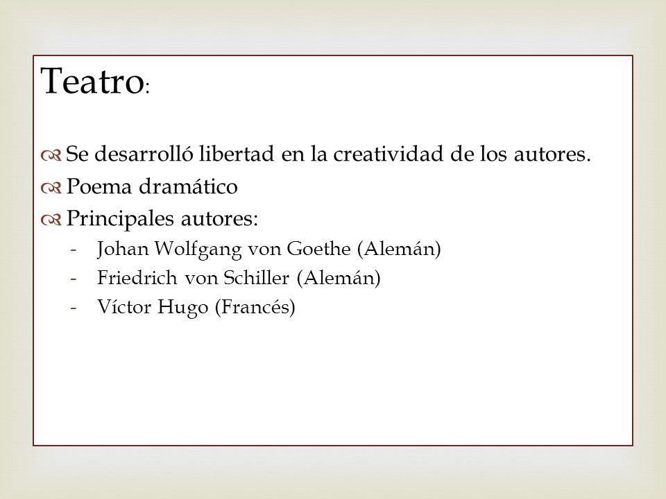 Teatro: Se desarrolló libertad en la creatividad de los autores.
