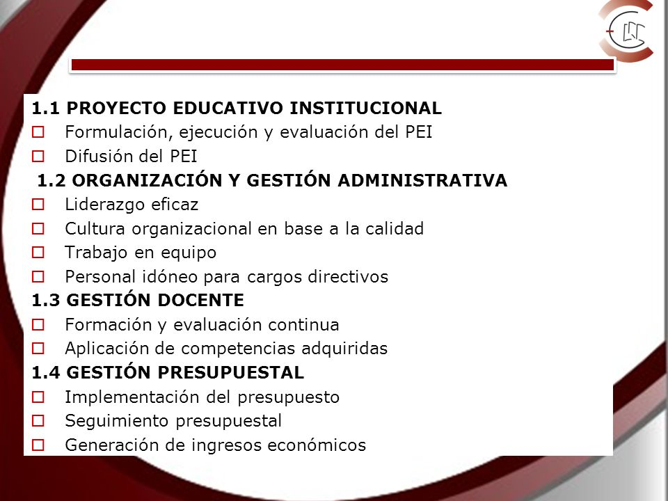 Dimensión Gestión Institucional