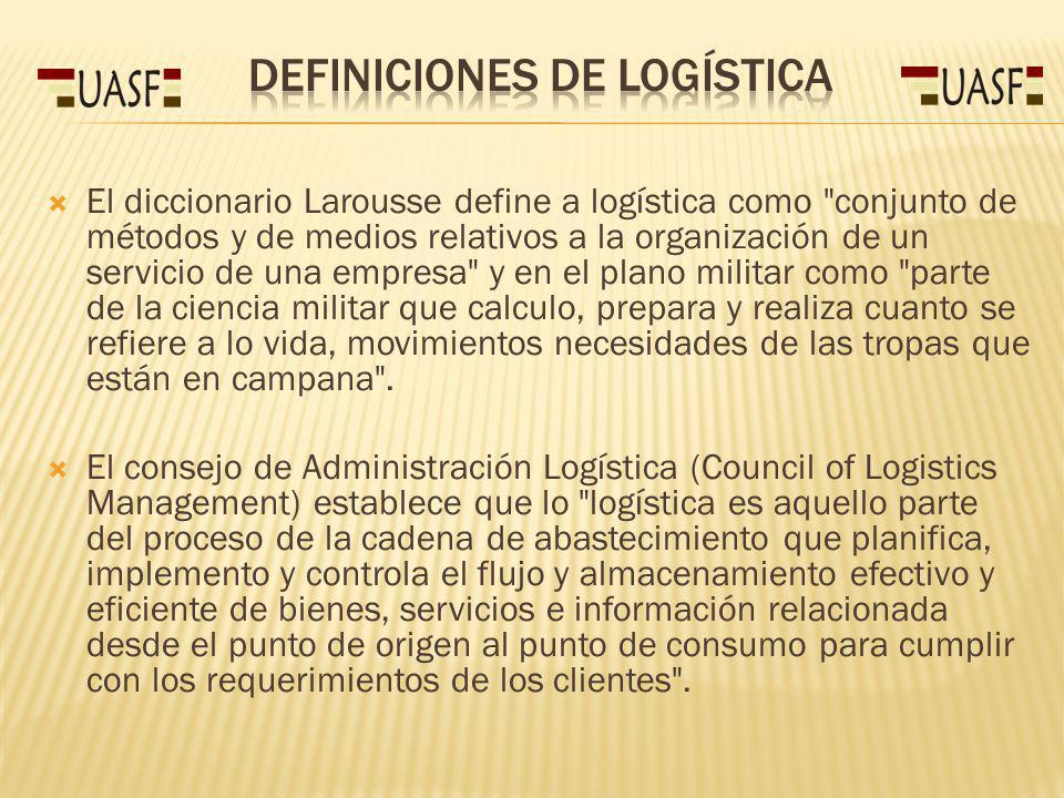 Definiciones de Logística