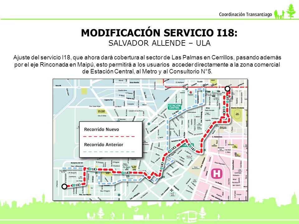 MODIFICACIÓN SERVICIO I18:
