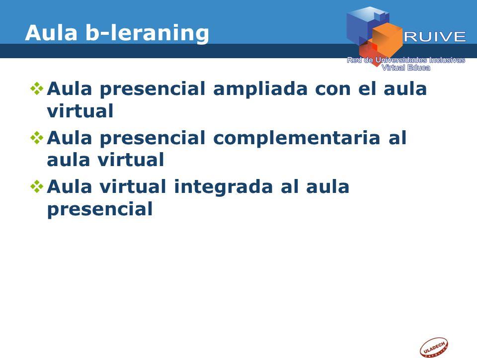 Aula b-leraning Aula presencial ampliada con el aula virtual