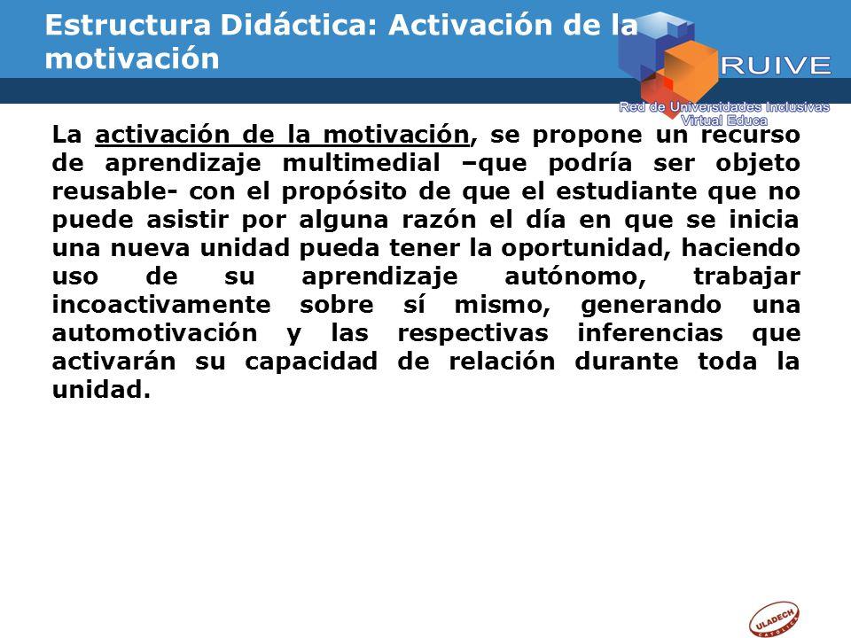 Estructura Didáctica: Activación de la motivación