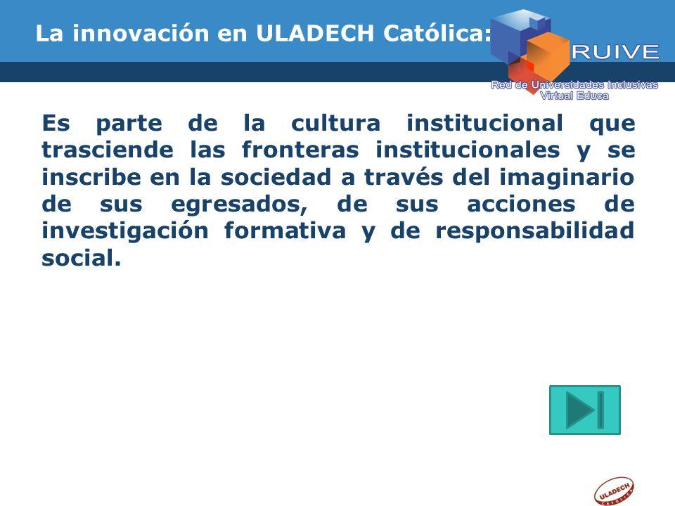La innovación en ULADECH Católica: