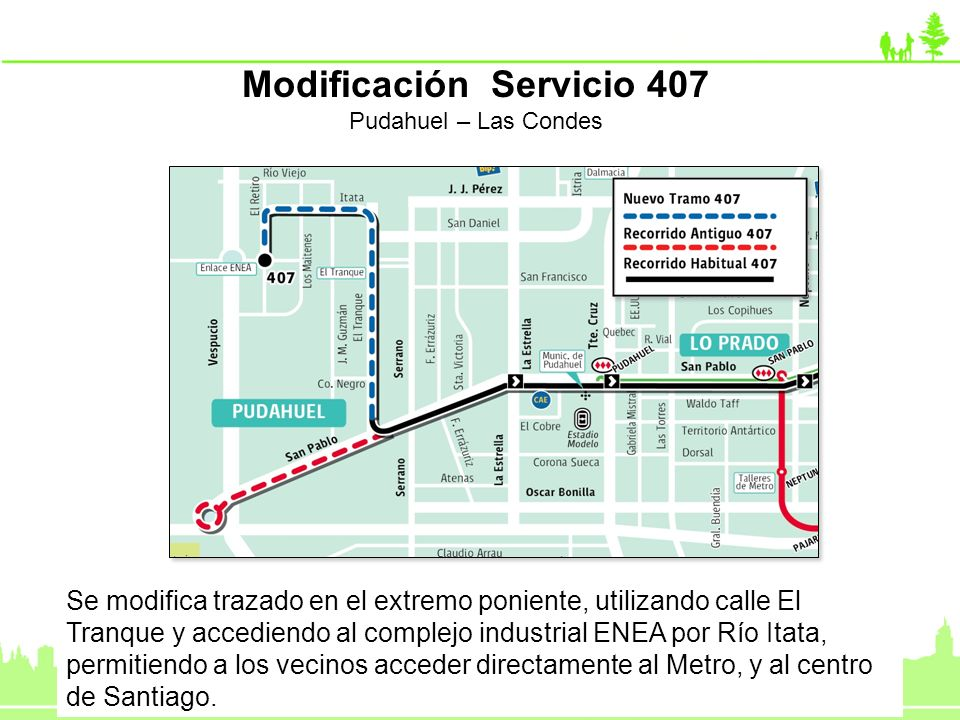 Modificación Servicio 407
