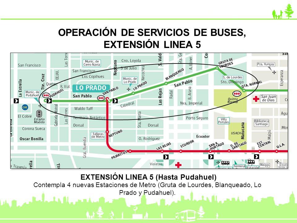 OPERACIÓN DE SERVICIOS DE BUSES, EXTENSIÓN LINEA 5