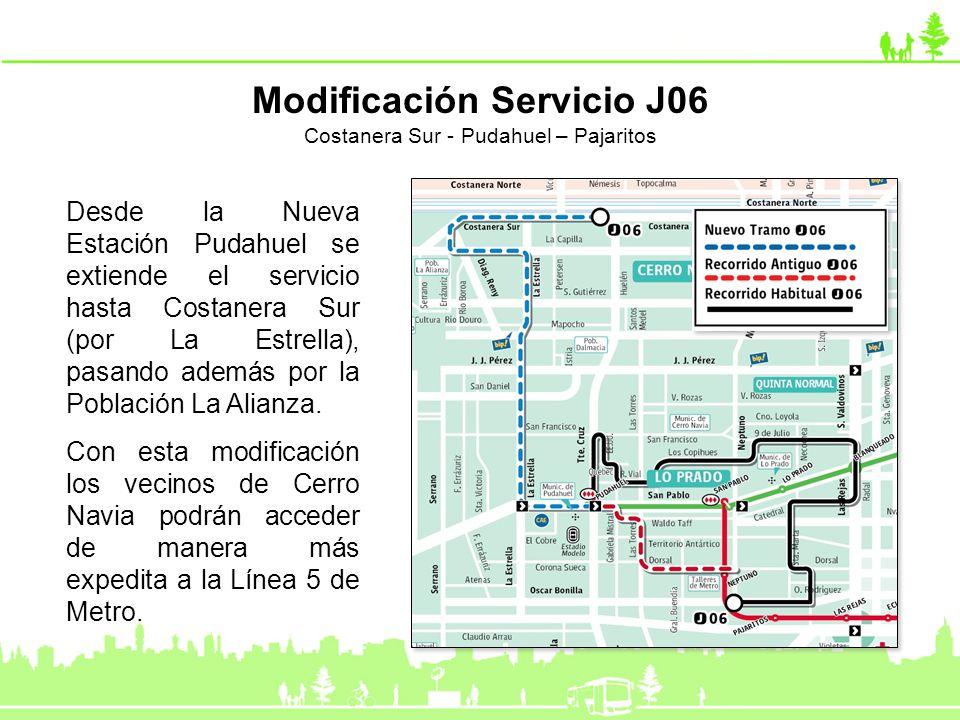 Modificación Servicio J06