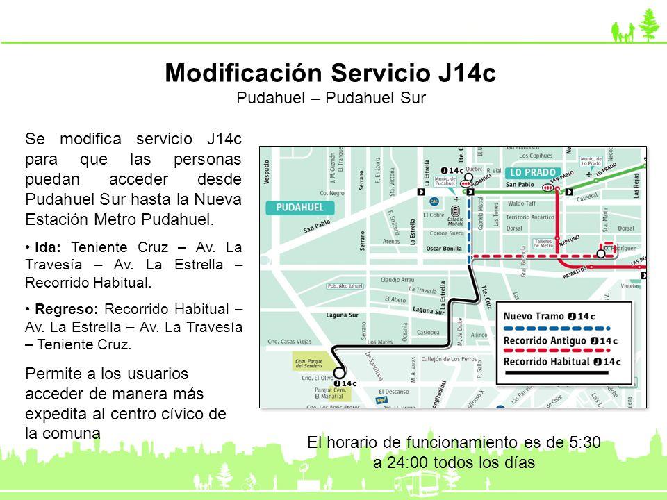 Modificación Servicio J14c