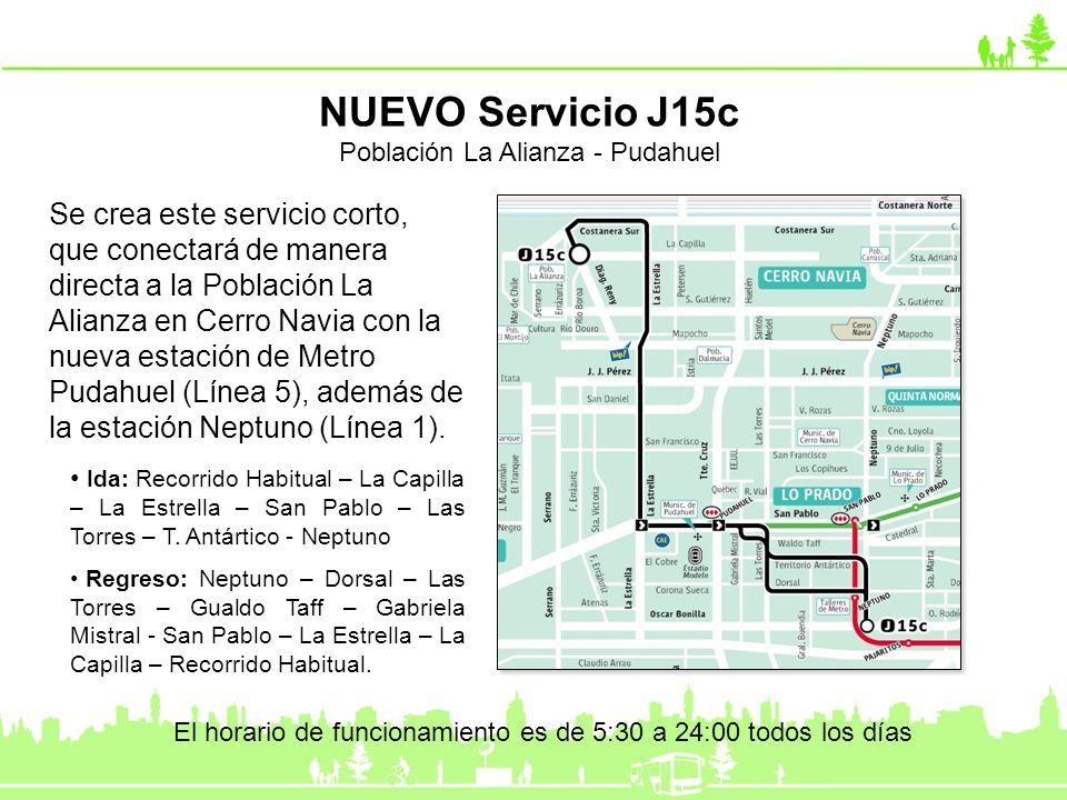 NUEVO Servicio J15c Población La Alianza - Pudahuel.