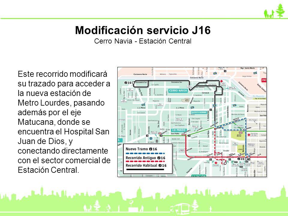 Modificación servicio J16