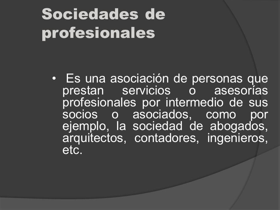 Sociedades de profesionales