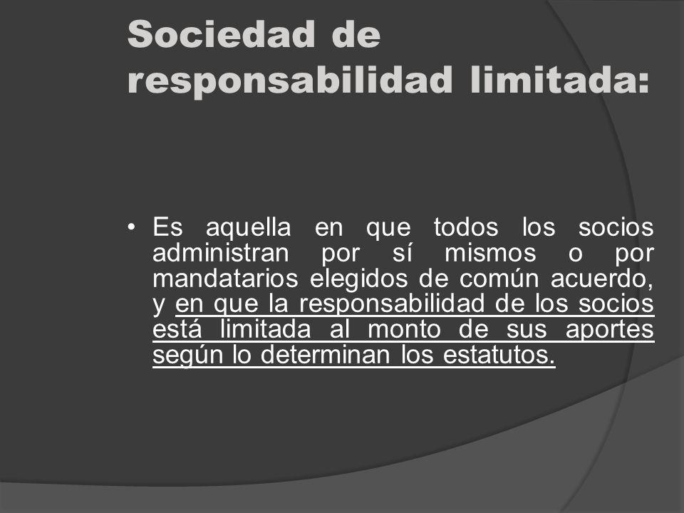 Sociedad de responsabilidad limitada: