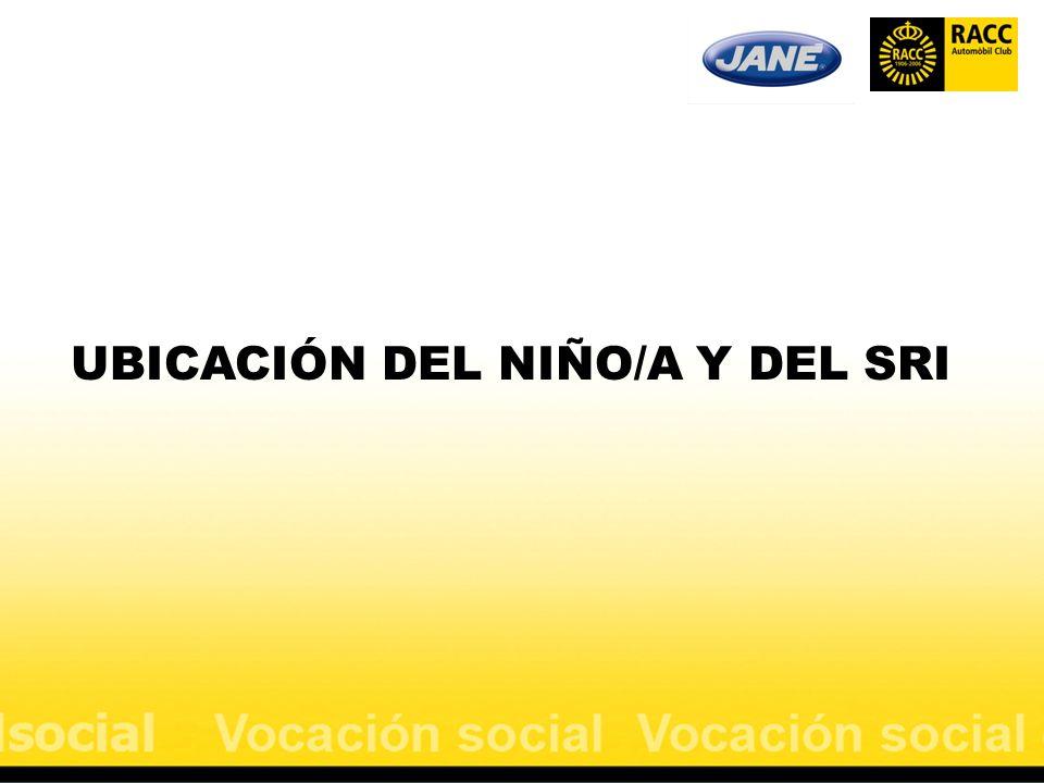 UBICACIÓN DEL NIÑO/A Y DEL SRI