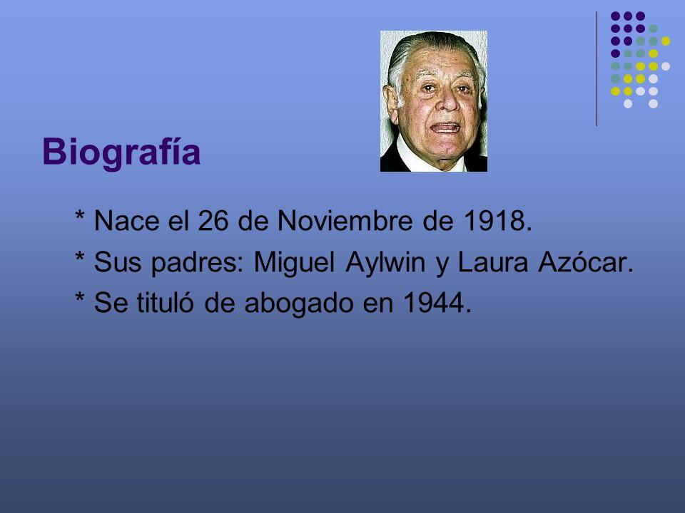 Biografía * Nace el 26 de Noviembre de 1918.