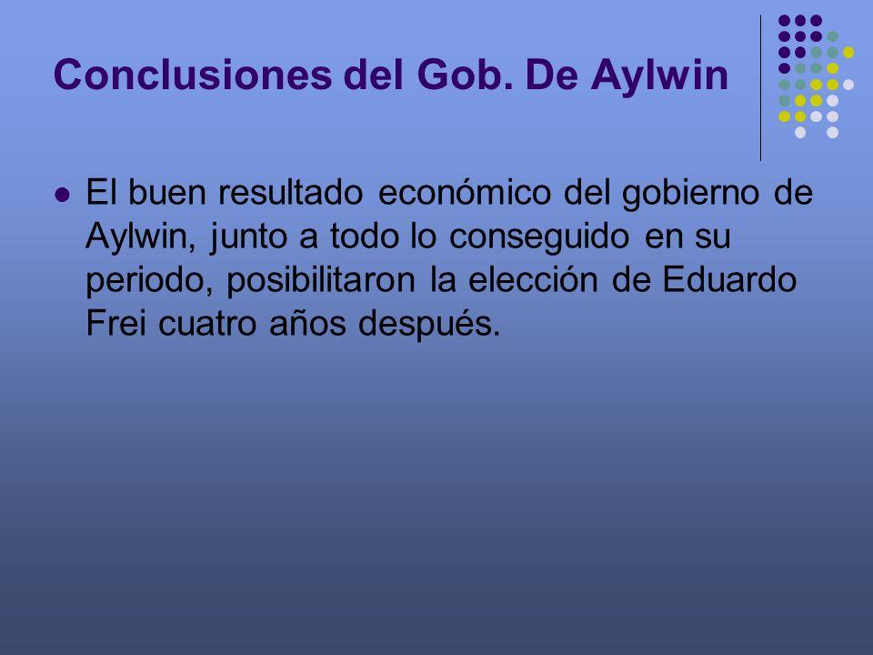 Conclusiones del Gob. De Aylwin