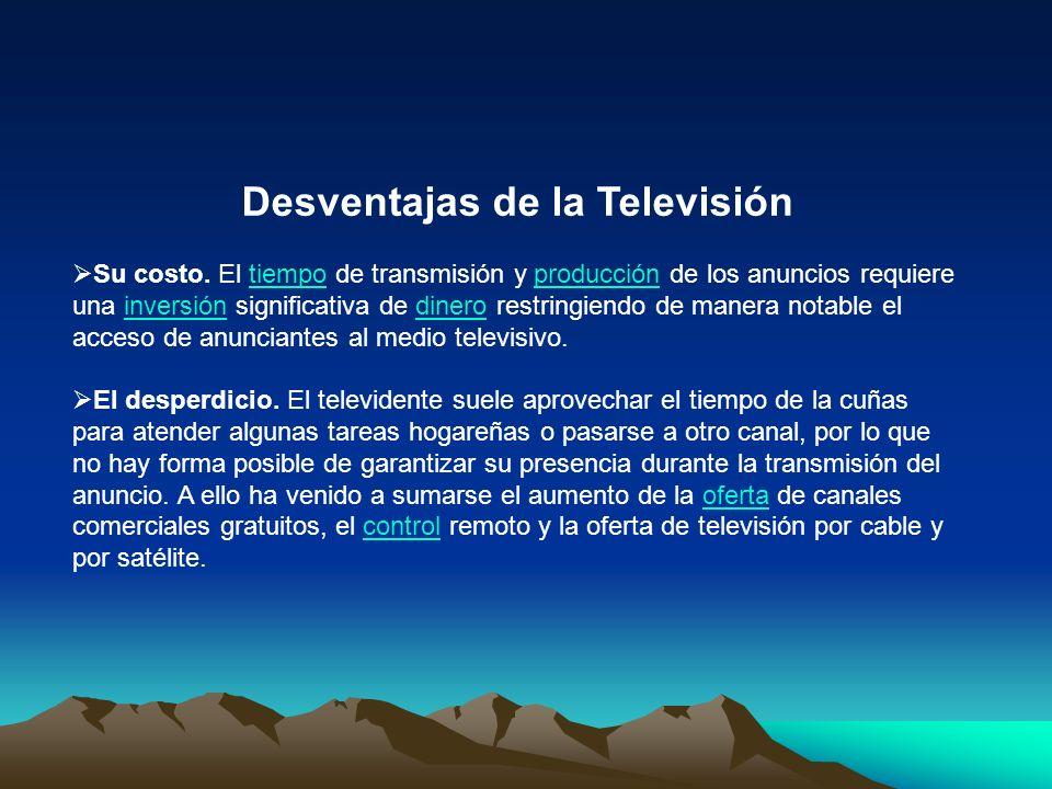 Desventajas de la Televisión