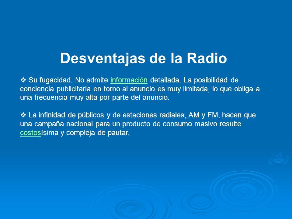 Desventajas de la Radio
