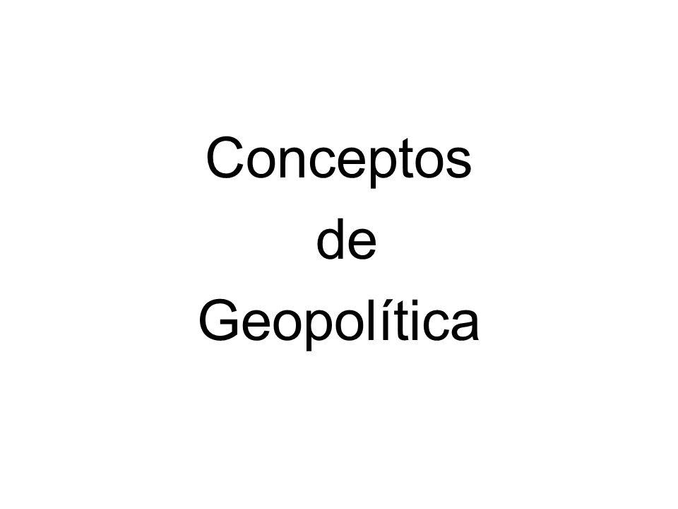 Conceptos de Geopolítica