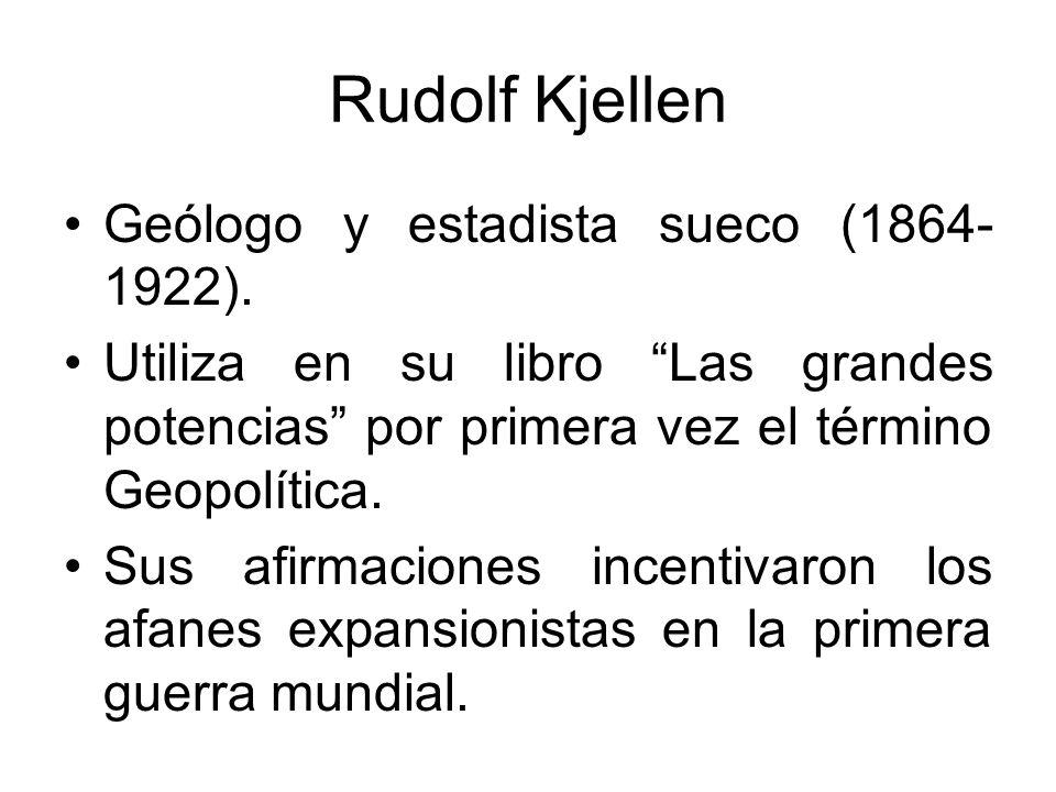 Rudolf Kjellen Geólogo y estadista sueco (1864-1922).