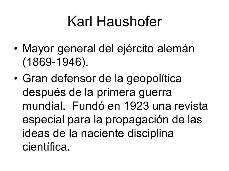 Karl Haushofer Mayor general del ejército alemán (1869-1946).