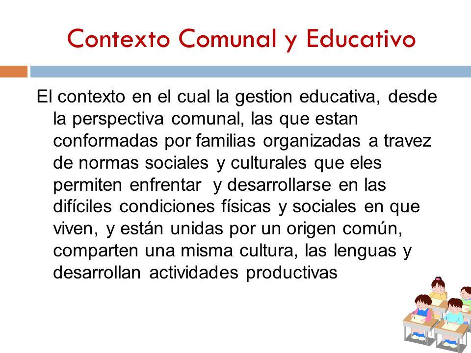 Contexto Comunal y Educativo