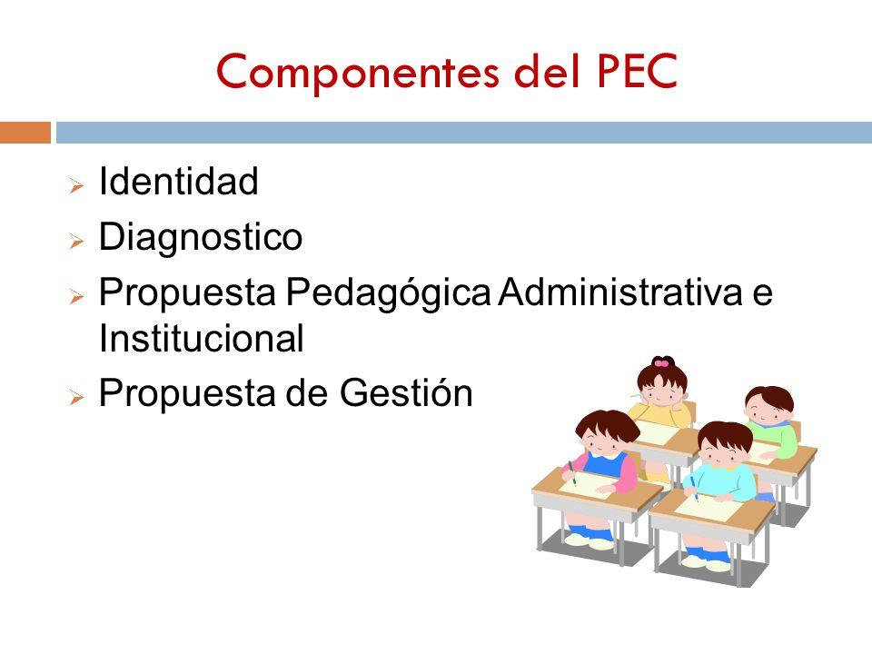 Componentes del PEC Identidad Diagnostico