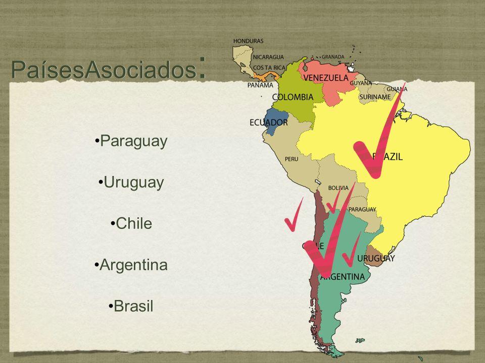 PaísesAsociados: Paraguay Uruguay Chile Argentina Brasil